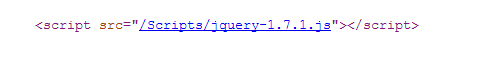 Figure 2 - JQuery HTML in MasterPage